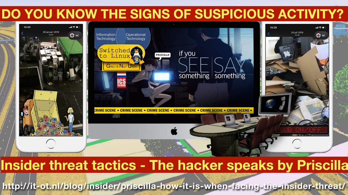 to be continued - do you know the signs of suspicious activity - insider threat tactics - the hacker speaks by Priscilla F. Harmanus